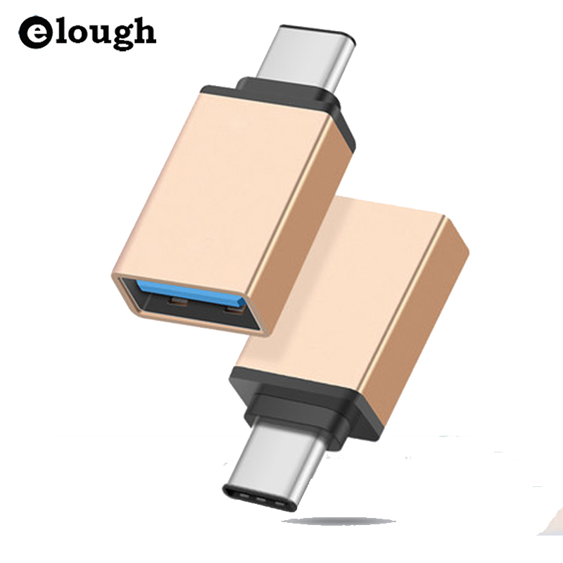 Elough USB Type C USB 3.1 OTG for Xiaomi MI4C Macbook Nexus 5X 6p USB Type C OTG Adapter Data Snyc Charging Cable Type-C USB-C