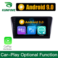 Android 9.0 Ram 4G Rom 64G PX6 Cortex A72 Car DVD GPS Multimedia Player Car Stereo For Peugeot 408 2014 2015 2016 2017 Radio
