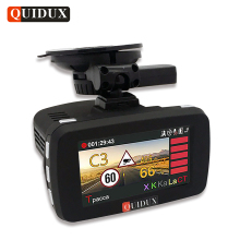QUIDUX Russian 3 in 1 Car DVR 1080P Radar Detector transponder Ambarella Car Video Recorder Camera GPS Speedcam Overspeed Remind