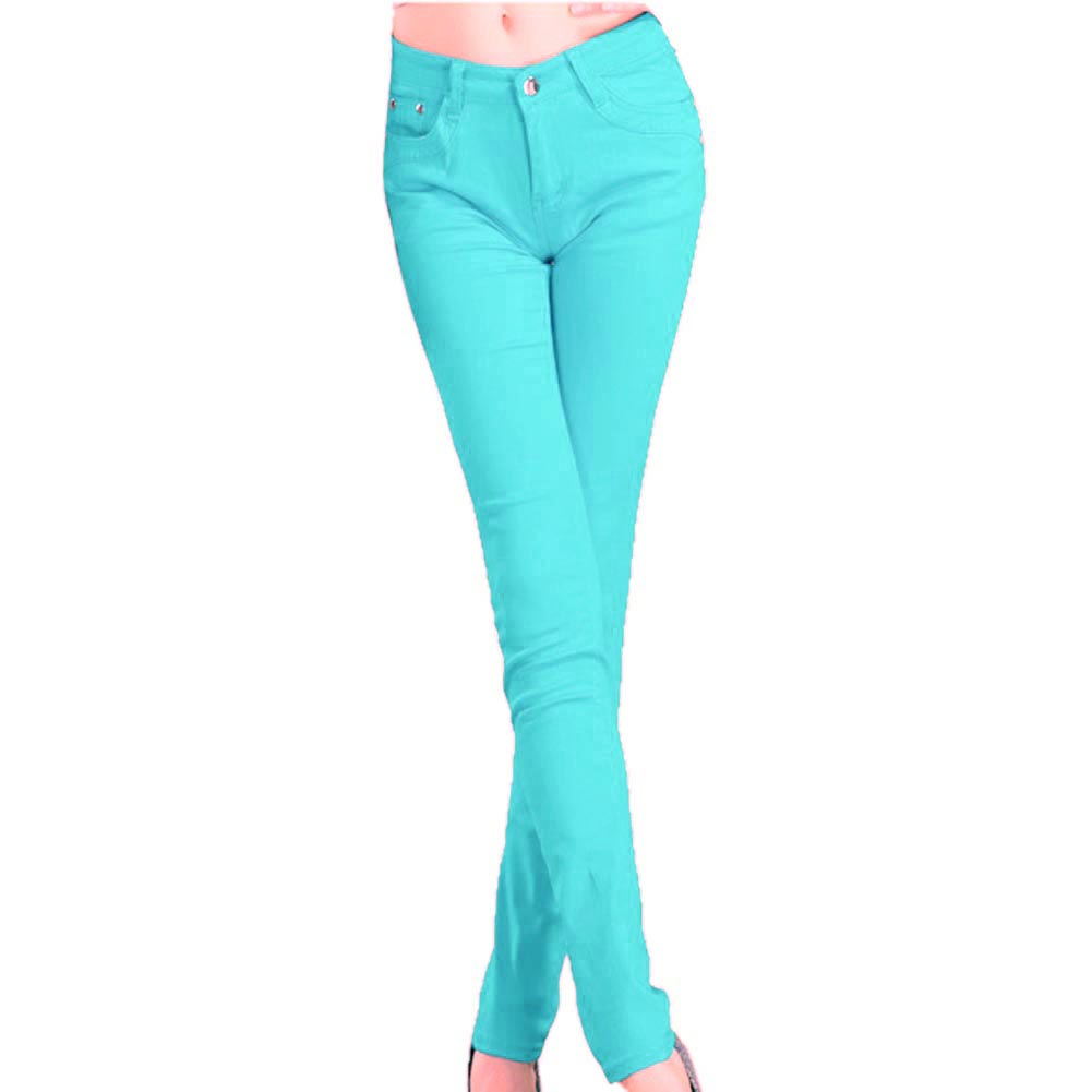 Perfect ASOS  ASOS Green Coated Colored Skinny Jeans At ASOS