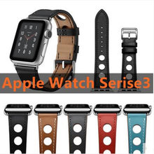 все цены на For Apple Watch Series 4 Newest Genuine Leather Watch Band Wrist Strap For Apple Series 3 2 1 herm Watchbands 40-44mm Bracelet онлайн