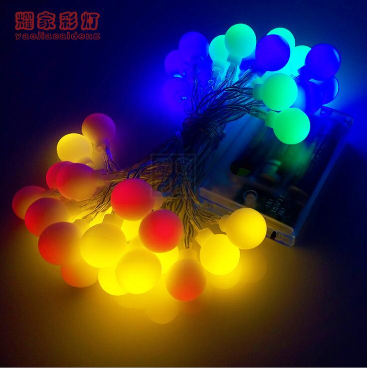 Dragon Ball Led Light Strip Waterproof LED Strip 4m 40 LED Strings for Xmas Christmas Holiday Lights Room Decorating