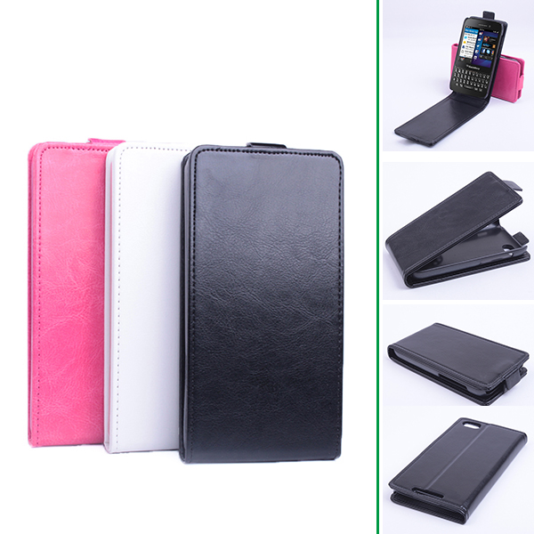 pretty nice fb469 17ac3 US $4.99 30% OFF|Luxury Flip Leather Cover Case for BlackBerry Q5 Vertical  Back Cover Magnetic Protective Shell Open Up and Down Phone Case-in Flip ...
