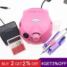 Nail Drill Machine 20W 35000RPM Professional Apparatus for Manicure Pedicure Kit Electric File with Cutter Art Tool