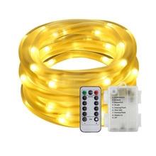 Tira de luces LED de Navidad para jardín, 10M, 5M, 100/50, resistente al agua