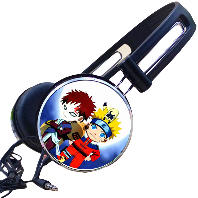Customized Naruto Sabaku no Gaara Anime Headphone Headphones Gaming Headset Stereo Headphones for Mobile Phone Mp3 Player PC