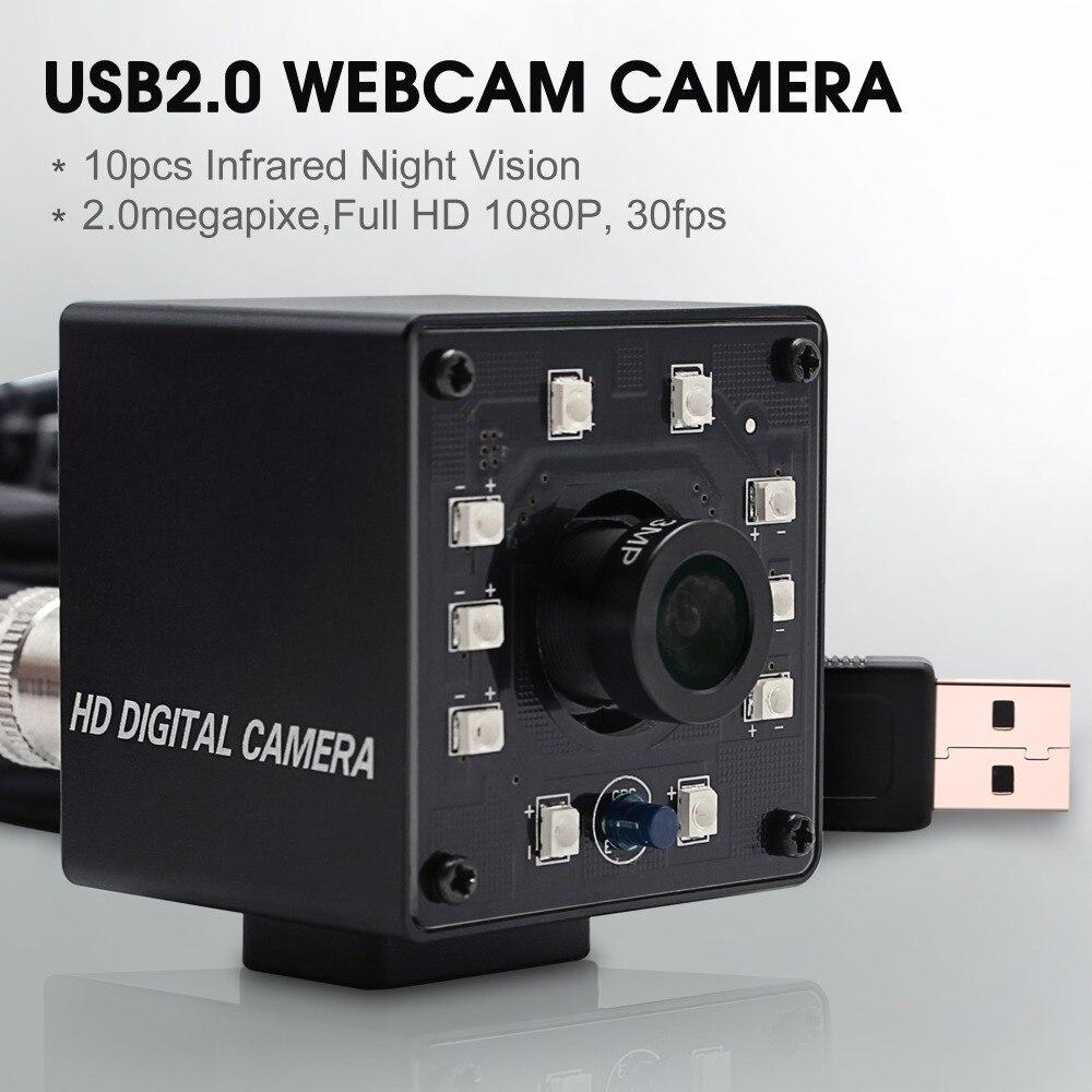 1080 P Ov2710 Caméra De Surveillance De Vidéosurveillance Hd Caméra De Surveillance Mini Infrarouge Vision Nocturne Usb Webcam Hd 1080 P Avec Coupe Ir Et 10 Pièces Panneau Led Toujours Acheter Bien