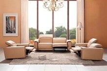 Vaca reales / genuine sofás de cuero salón sofá seccional / sofá de la esquina de muebles para el hogar sofá / 1 + 2 + 3 plazas sillones
