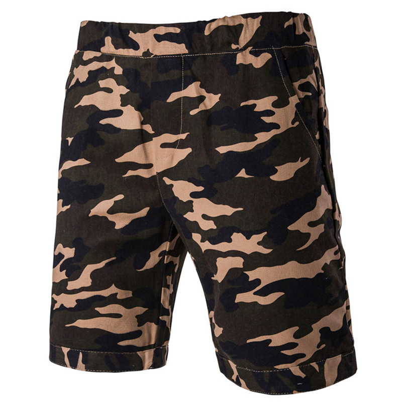 ChenaWolry online Store Men Short Pants 2017 Summer Beach Mens Camouflage Short Pants Casual Flanging Cropped Trousers free shipping MAR23