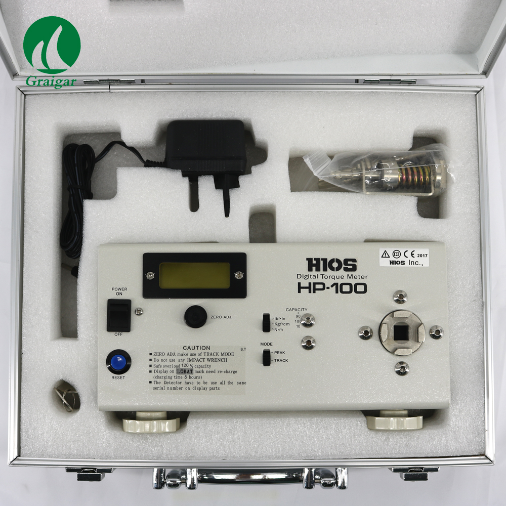 HP 100 Digital Torque Meter can Calculate the MAX MIN and AVE HP100