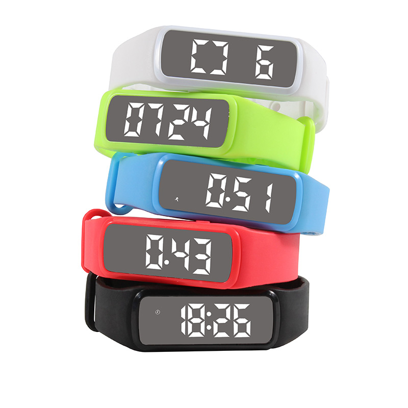 Fitness Tracker Pedometer Silicone Wristband LED Display Sleeping Monitoring Outdoor Gym Step Running Sport Health Wrist Watch