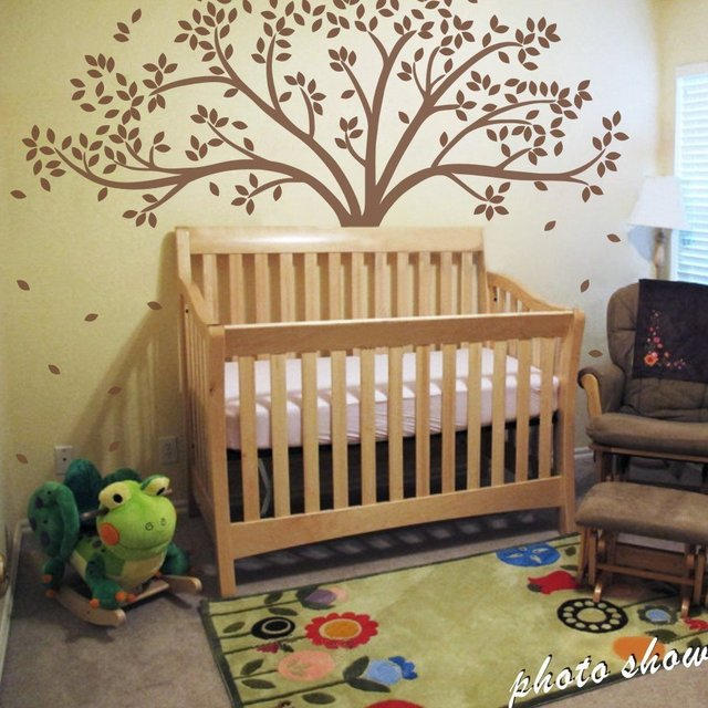 c053 mairgwall fall tree wall decal monochromatic tree decal baby