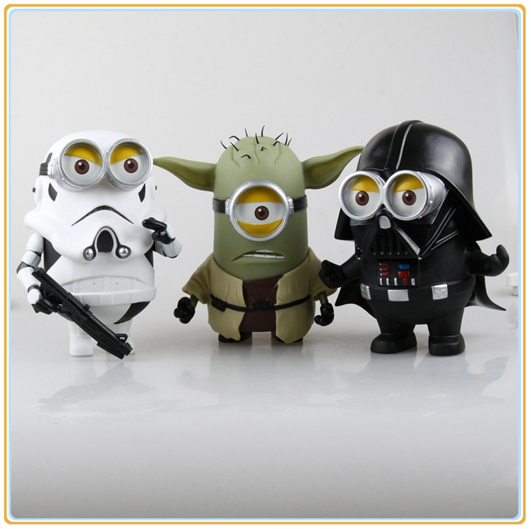 20cm Q Style Star War Minions Cosplay Darth Vader & STORM Yoda TROOPER Action Figure Model Toy