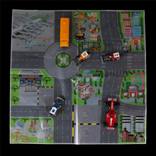 ZTOYL Funny 61*61CM Children Educational Toy Traffic Scene Map Car Parking Lot Map City for Simulation Mini Car Vehicle Diecasts(China)