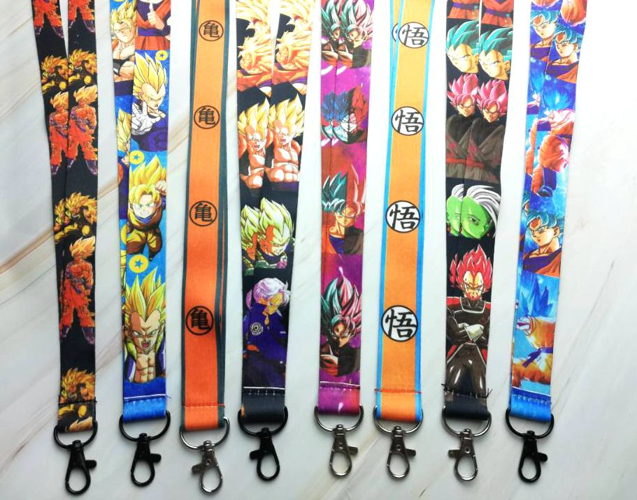 10pcs/20pcs/30pcs Dragon Ball Z Goku <font><b>Sayajins</b></font> Master Roshi Neck Strap Lanyard Mobile Phone Key Chain ID Badge Key Chains K311 image