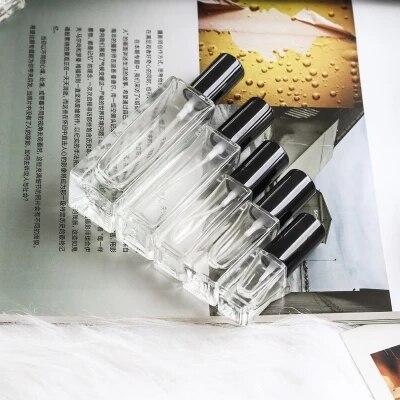 5ml 10ml 20ml 30ml Transparent Thin Glass Spray Bottle Sample Glass Vials Portable Mini Perfume Atomizer Gold Silver Black Cap