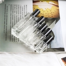 5ml 10ml 20ml 30ml Transparent Thin Glass Spray Bottle Sample Vials Portable Mini Perfume Atomizer Gold Silver black Cap