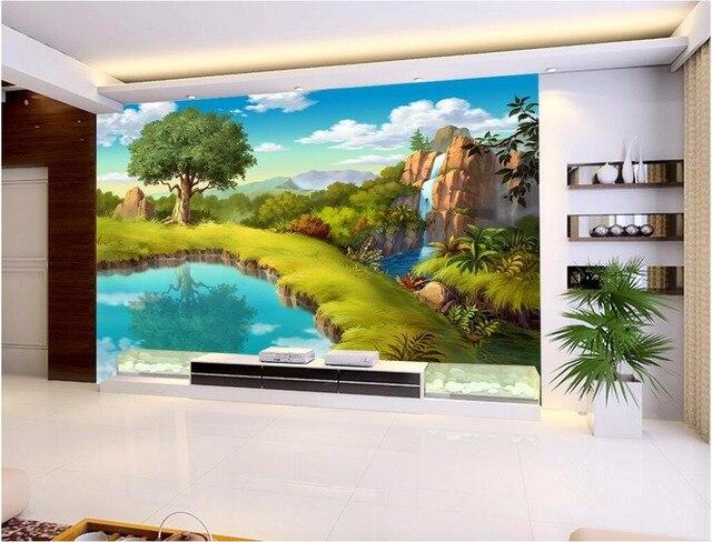Benutzerdefinierte foto 3d tapete vlies mural animierte kleinen ...
