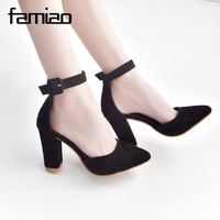 FAMIAO Fashion Women Pumps Sandals High Heel Summer Pointed Toe Dancing Wedding Shoes Casual Sexy Party