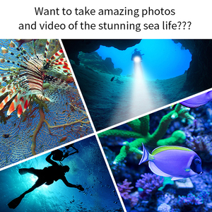 Image 5 - الغوص ل مصباح ليد جيب الشعلة 5 * T6 L2 الغوص الشعلة 200 متر تحت الماء مقاوم للماء التكتيكية المهنية الغوص فانوس مصباح