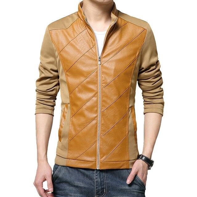 Весна и осень мужская вскользь стоячим воротником в 2016 корейская версия сплошной цвет сшивание Тонкий куртка M-5XL