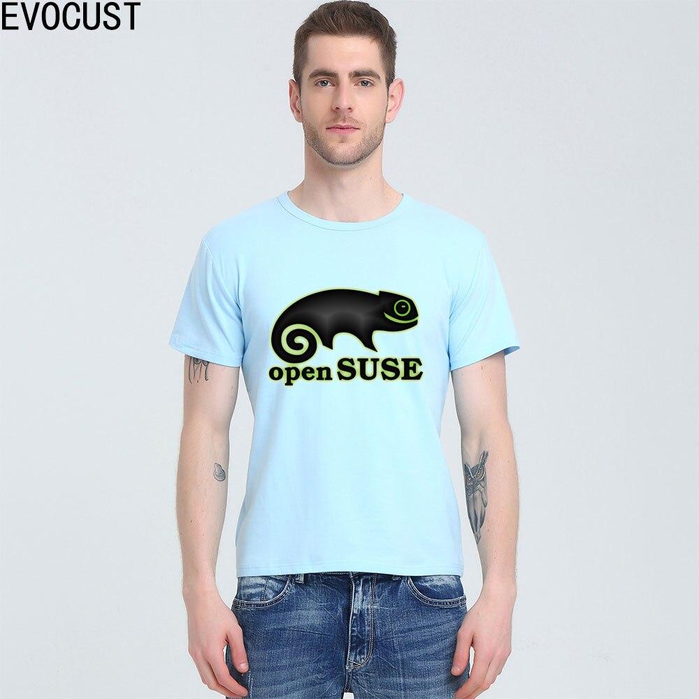 Open Suse Linux Source T-shirt Lycra Cotton Men T shirt