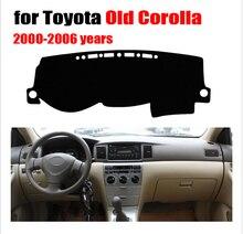 Приборной панели автомобиля Обложка Коврик для старых Toyota Corolla 2000-2006 лет левым dashmat Pad Даш коврик охватывает Аксессуары Приборной Панели