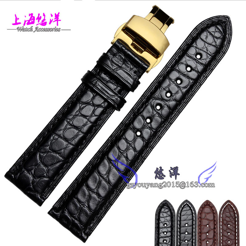 18mm 19mm 20mm 21mm 22mm Black Brown alligator leather watchband is available for men and women watch