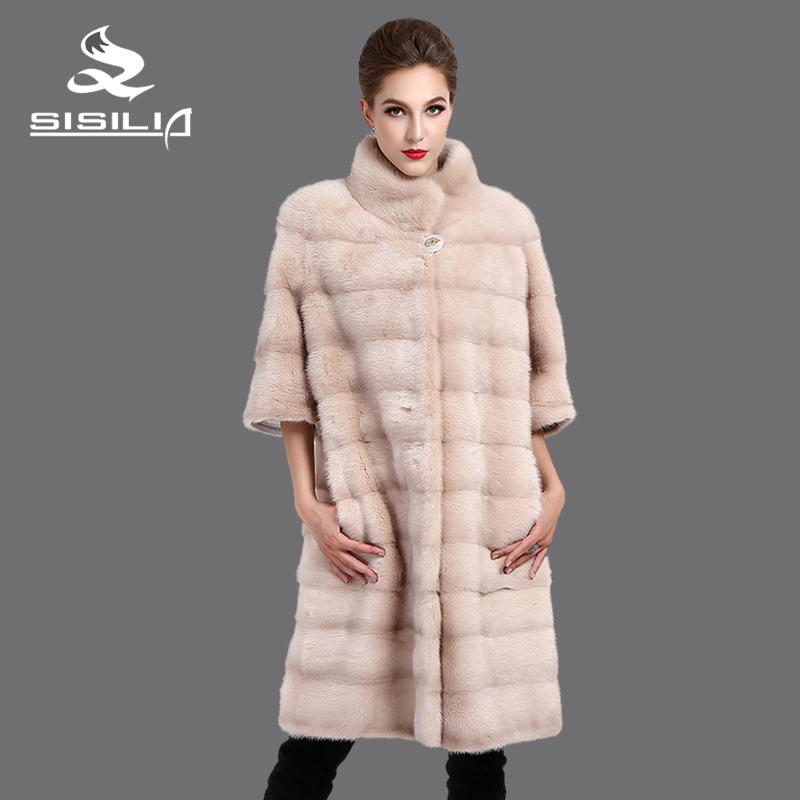 SISILIA 2016 Baru wanita mantel bulu nyata, Kulit Asli, bulu mantel - Pakaian Wanita - Foto 3