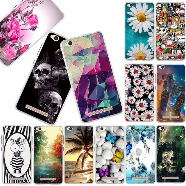 Phone Case For Xiaomi Redmi 4A Case 5.0'' Luxury Fashion 3D Painted TPU Soft Silicone Cover For Redmi 4A 4 A Back Cover Fundas