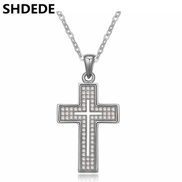 Shdede antique vintage christian jewelry cubic zirconia cross shdede antique vintage christian jewelry cubic zirconia cross necklace pendants fashion birthday gift for girlfriend aloadofball Image collections