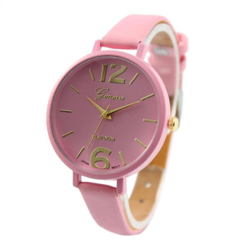 Relogio Feminino Women Watch Fashion Gold Numerals Dial Faux Leather Analog Quartz Wrist Watch Watches Clock Best Gift hot new fashion quartz watch women gift rainbow design leather band analog alloy quartz wrist watch clock relogio feminino