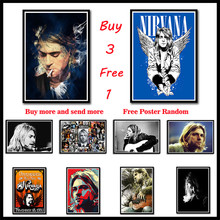 Kurt Cobain Nirvana White Coated Paper Poster Rock Orchestra decorative painting Frameless