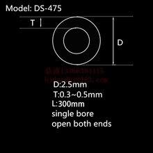 99.5% Al2O3 Высокая термальная Корундовая трубка OD2.5* ID1.5mm/круглая одностворчатая трубка из оксида алюминия/изоляционная керамика для Датчики термопары