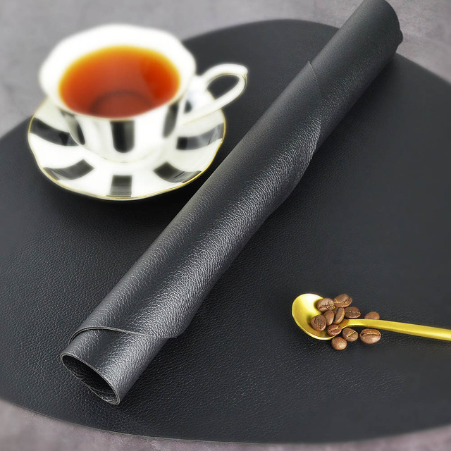 Chic Tableware Pad Placemat PU Leather Table Mat Heat 3