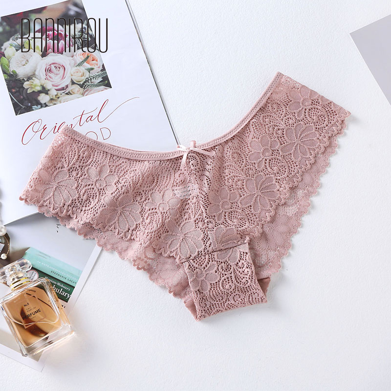 3 Pcs Panties For Woman Underwear Sexy Lace Breathable Female Panty Transparent Briefs Sexy Underwear Women M XXL 2019 BANNIROU in women 39 s panties from Underwear amp Sleepwears