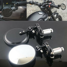 Motorcycle CNC Aluminum Rotate Round 7/8 Handle Bar End Side Rearview Mirrors 4194422871266