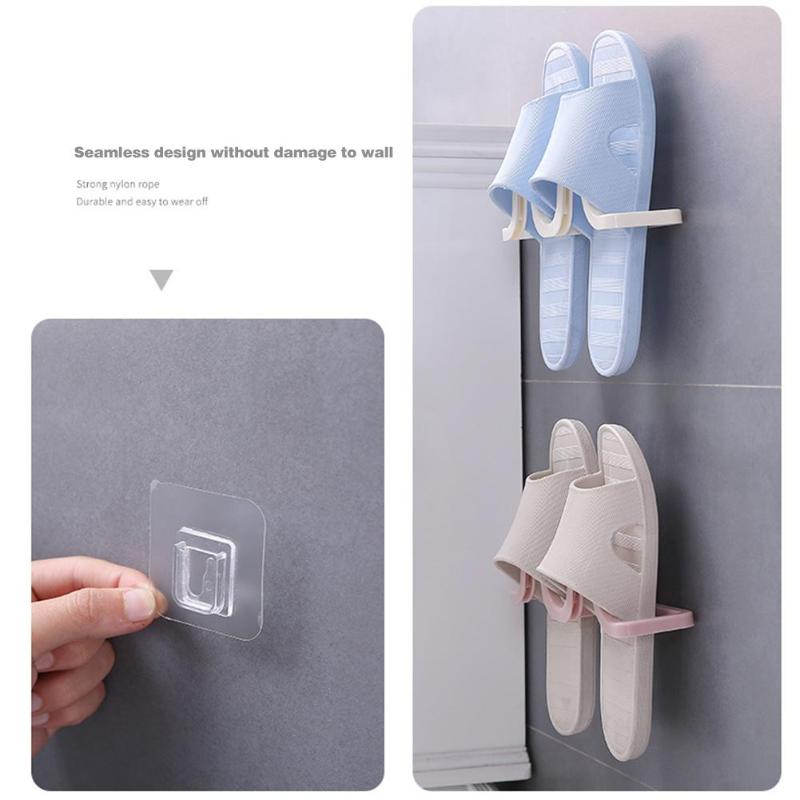 Wall Mounted Hanging Shoe Organizer used to Hang All Types of Shoes and Slippers to Save Space 1