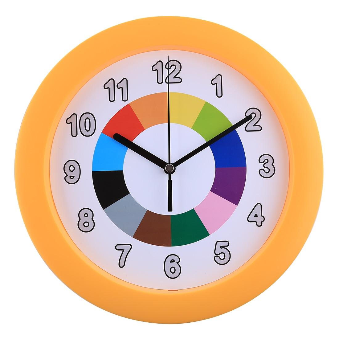 10 Inch Children Creative Silent Wall Clock Kids Mute Quarz Clocks For Bedroom Wall Decor Modern Design Decorative