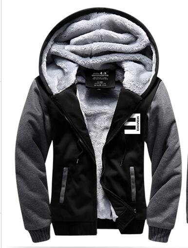 New Winter Jackets and Coats Eminem font b hoodie b font Hip Hop Hooded Thick Zipper