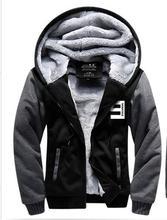 New Winter Jackets and Coats Eminem hoodie Hip Hop Hooded Thick Zipper Men Women cardigan Sweatshirts