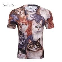 Devin Du Cats T-shirt Men 3d Print Meow Star Cat Hip Hop Cartoon TShirts Summer Tops Tees Fashion 3d shirts