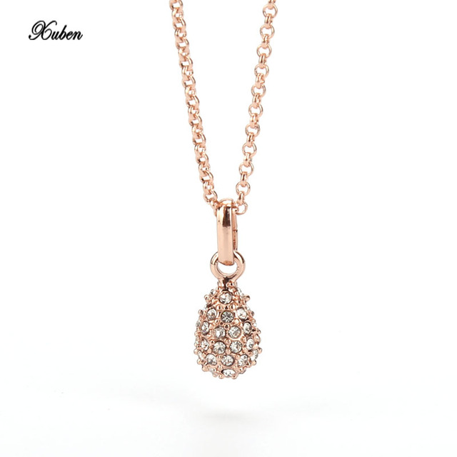 d1c678ebf97ea Double layer chain necklace crystal for women rhinestone charm necklaces  pendants choker colar mujer jewelry 2017 xuben-in Pendant Necklaces from ...