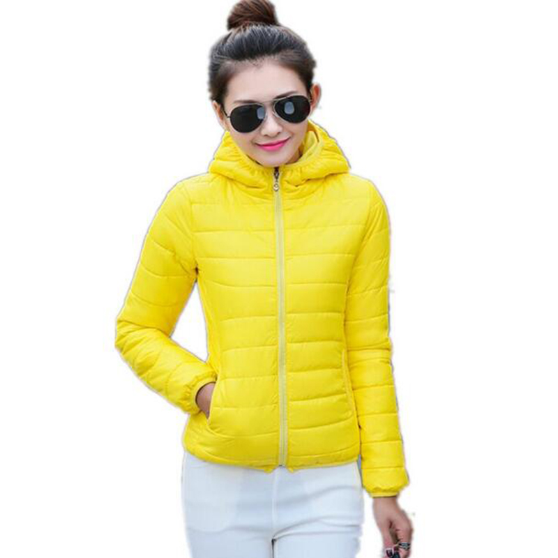 2017   jackets   women autumn winter Fashion Casual   Basic     jacket   Cotton coat female   jacket   parka Wadded Slim Short outwear LU317