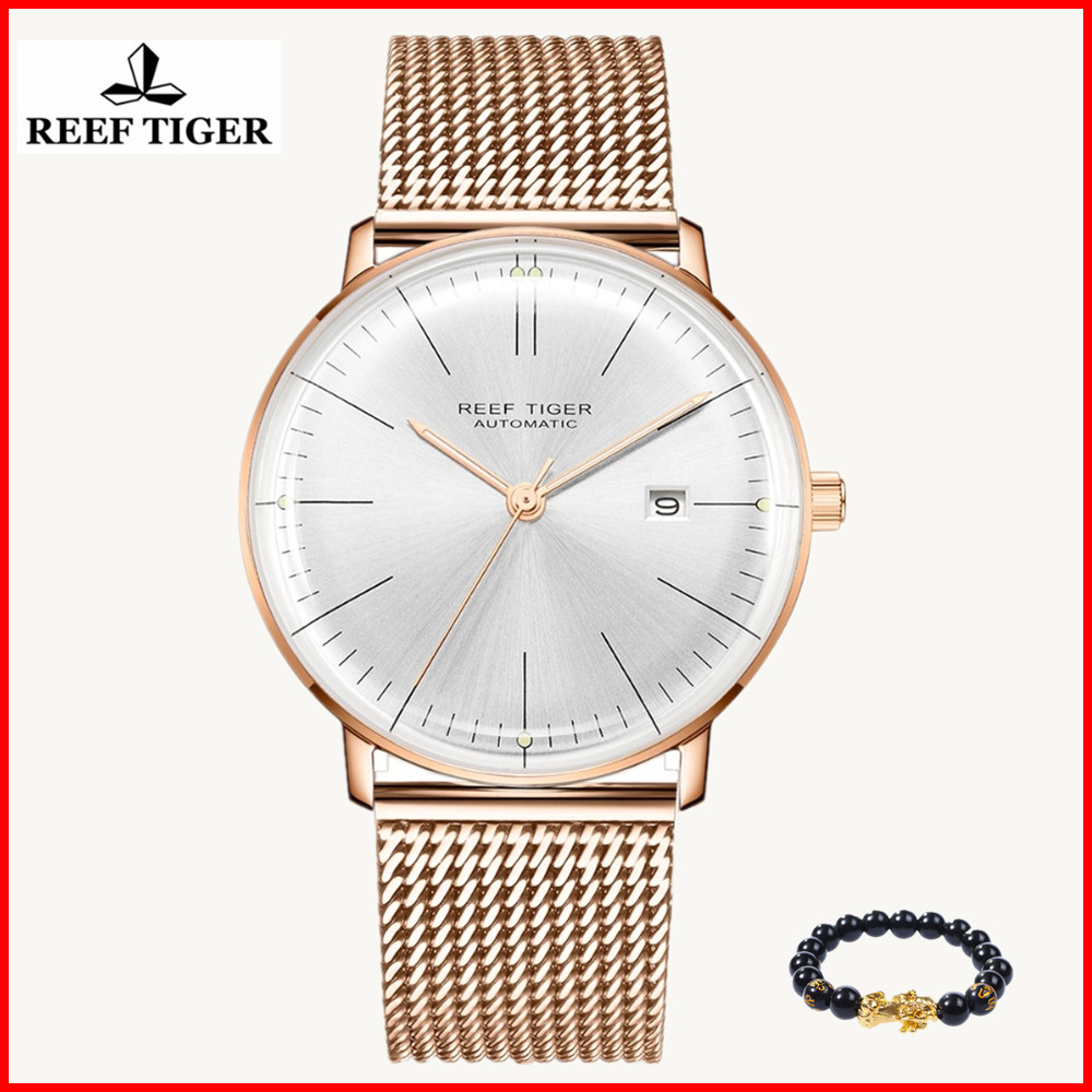 Top-Brand Watch Mechanical-Watches Tiger/rt Automatic Rose-Gold-Strap Sapphire RGA8215