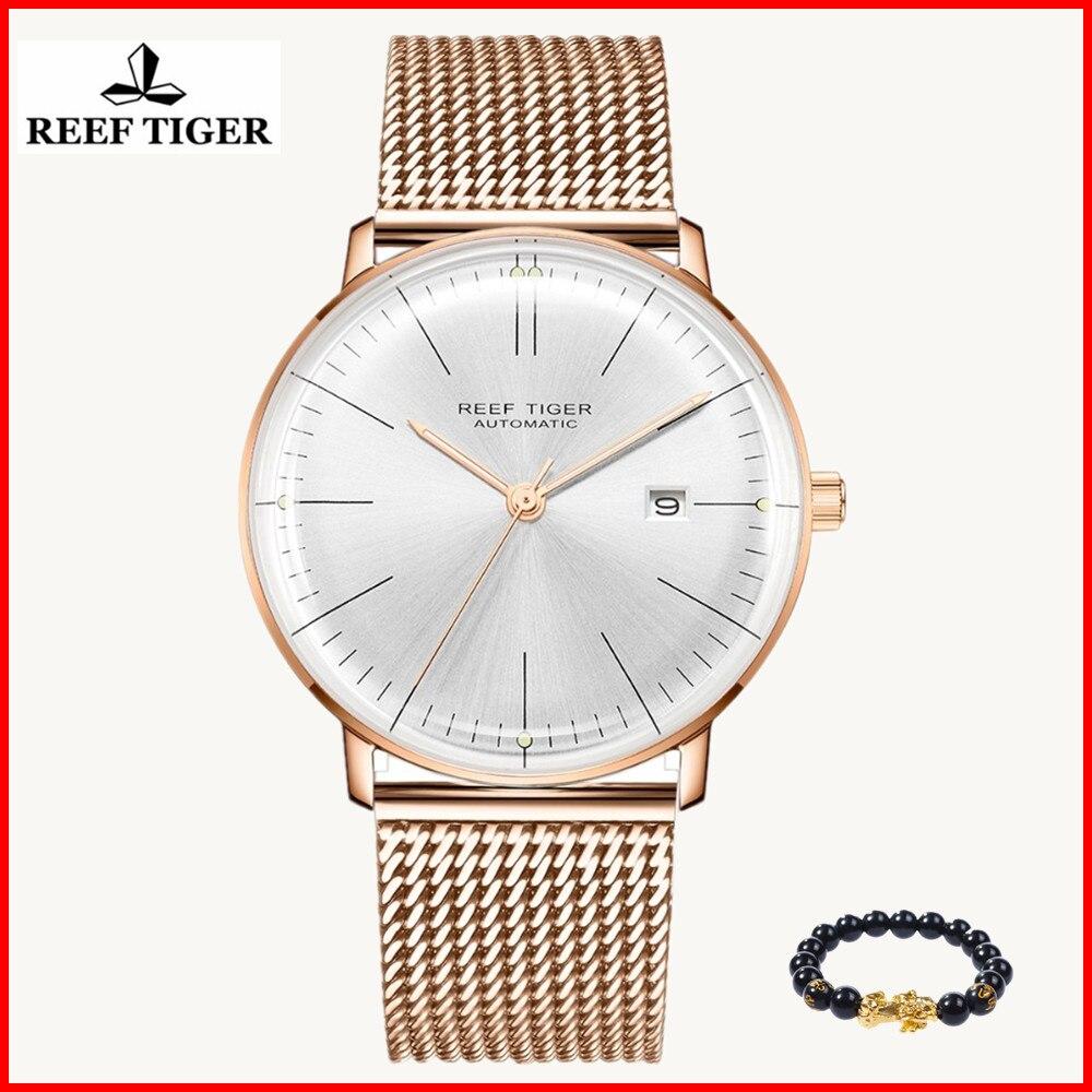 الشعاب النمر/RT أعلى العلامة التجارية الفاخرة ساعة يد بسيطة للرجال الياقوت Crystral ووتش روز الذهب حزام التلقائي ساعات آلية RGA8215-في الساعات الميكانيكية من ساعات اليد على  مجموعة 1