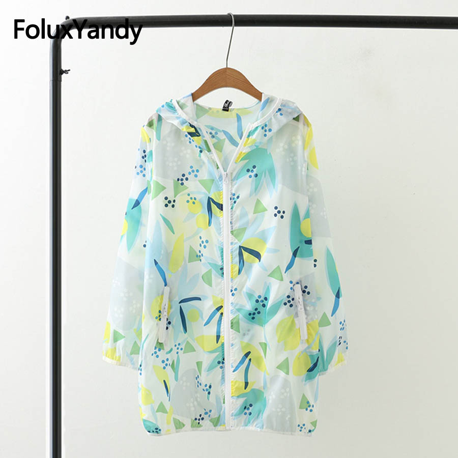 New Casual Thin   Trench   Women Spiring Summer Coats Outerwear Print Hooded   Trench   Plus Size 3XL 4XL SWM1081oil