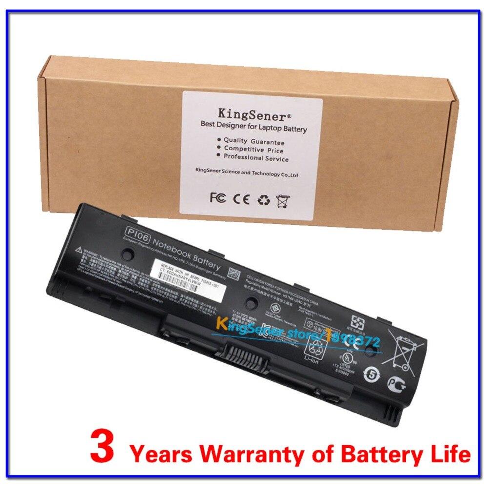 ФОТО KingSener Korea Cell PI06 Battery For HP Enyy 14 15 17 Series For Pavilion 14-E051TX HSTNN-LB4N HSTNN-UB4O 710415-001 11.1V 62WH
