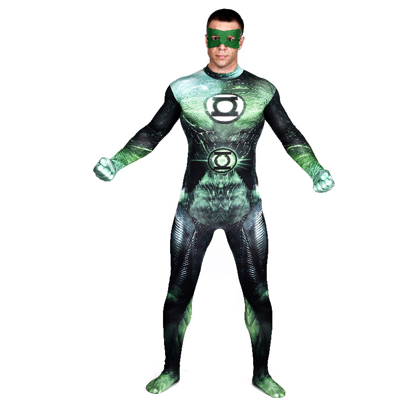 Green Lantern Corps superhero Heroine cosplay full bodysuit zentai adult halloween  costumes Green Lantern costume party - Compare Prices On Green Lantern Costume Men- Online Shopping/Buy