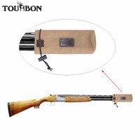 Ankunfts tourbon Jagd Gun Barrel Protector Leinwand Halter Beutel Aganist Ton Braun Farbe Gun Zubehör-in Halfter aus Sport und Unterhaltung bei